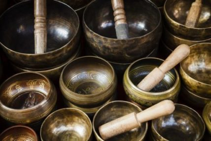 Praying With Singing Bowls